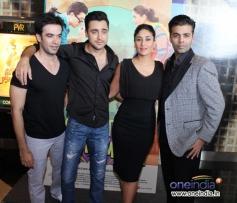 Punit Malhotra, Imran Khan, Kareena Kapoor and Karan Johar at Gori Tere Pyaar Mein first look launch