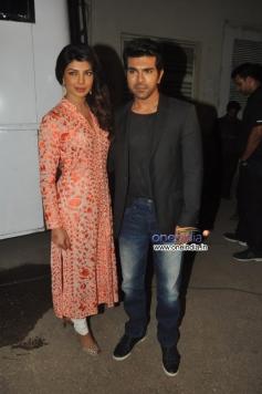 Ram Charan Teja and Priyanka Chopra promotes Zanjeer on Bade Achhe Lagte Hain sets