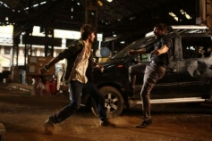 Ranbir Kapoor action still from Besharam