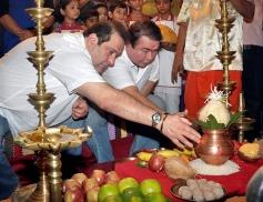 Randhir Kapoor and Rajiv Kapoor celebrate Ganesh Festival