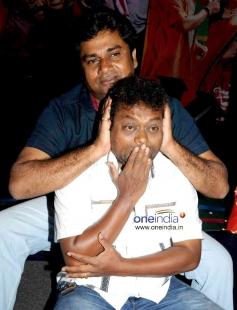 Rangayana Raghu and Sadhu Kokila at Film Chaddi Dosth Press Meet