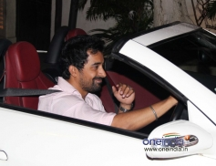 Rannvijay Singh snapped while arriving in car at Olive Bar