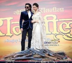 Ranveer Singh and Deepika Padukone at trailer launch of Ram Leela