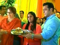Salman Khan & Aprita Khan performing Pooja