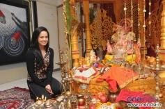 Sana Khan visited Bharti & Kapil Mehra's Ganpati