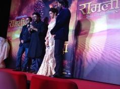 Sanjay Leela Bhansali addressing media during first look launch of Ram Leela