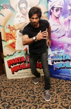 Shahid Kapoor at promotion of film Phata Poster Nikla Hero