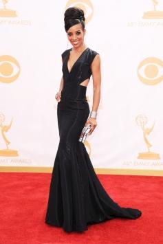 Shaun Robinson at 65th Emmy Awards 2013