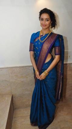 Shraddha Kapoor celebrates Ganapati in Maharashtrian style