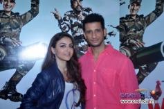 Soha Ali Khan and Sharman Joshi during film War Chhod Na Yaar film press interaction