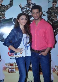 Soha Ali Khan and Sharman Joshi during the press conference of film War Chhod Na Yaar