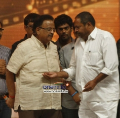 SPB and R. Narayana Murthy at 100 Years of Indian Cinema Celebration in Chennai.