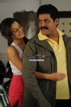 Srihari and Neenu Karthika still from Telugu Movie Police Game