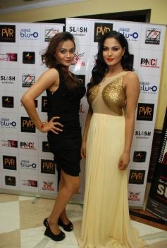 Supermodel film promotions at PVR Delhi