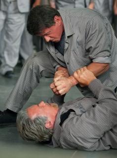 Sylvester Stallone and Arnold Schwarzenegger still from film Escape Plan