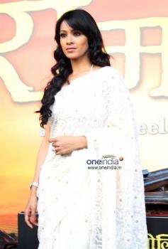 Barkha Bisht Sengupta during trailer launch of Ram Leela