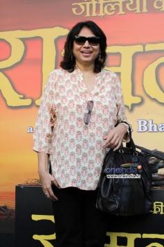 Sanjay Leela Bhansali sister Bela Sehgal at trailer launch of Ram Leela