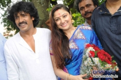 Upendra along with his wife Priyanka at Kanteerava Studios, Bangalore