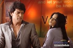 Upendra and Celina Jaitley still from XYZ
