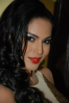Veena Malik poses during Supermodel Promotions at PVR Delhi