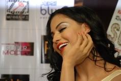 Veena Malik's film Supermodel Promotions at PVR Delhi