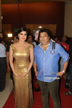 Veena Malik With Ravi Ahlawat at Veena Malik's Super Model film premiere
