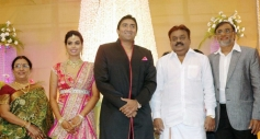 Vijayakanth at TG Thyagarajan son Senthil Dhasha Wedding Reception