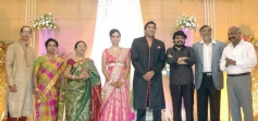 Vikraman at TG Thyagarajan son Senthil Dhasha Wedding Reception