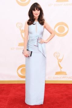 Zooey Deschanel at 65th Emmy Awards 2013