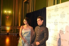 Aamir Khan along with his wife Kiran Rao at 2013 Inaugral Awards Dinner
