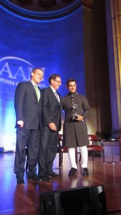 Aamir Khan honoured at US for Satyamev Jayate tv show