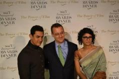Aamir Khan with his wife Kiran Rao at US award function