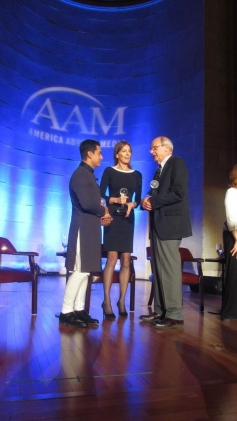 Aamir Khan with Kathryn Bigelow at 2013 Inaugral Awards Dinner