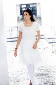Aavaana White Dress