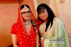 Actress Rakhi Sawant and Bharti Singh in Kannada Film Rangan Style