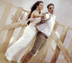 Actress Sonakshi Sinha and Akshay Kumar in Boss