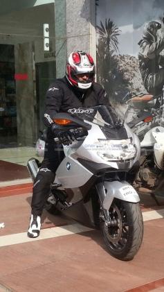 Ajith Kumar's rides BMW K 1300 S bike