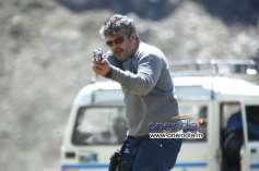 Ajith Kumar still from Aarambam Movie