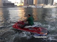 Akshay Kumar enjoys his ride in Jet Ski during Boss film promotion