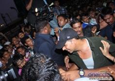 Akshay Kumar leaving Gaiety Galaxy after watching his film Boss