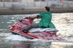Akshay Kumar takes a Jet Ski for media interactions in Dubai