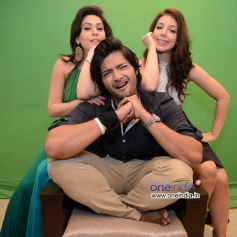Ali Fazal, Amrita Raichand & Anisa at the photoshoot of Vibhu Agarwal's Baat Bann Gayi