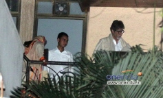 Amitabh Bachchan with his wife Jaya Bachchan celebrate Karva Chauth