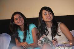 Andrea Jeremiah and Trisha Krishnan at Endrendrum Punnagai audio launch