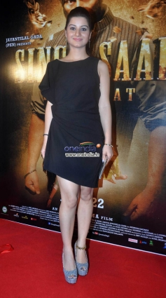 Anjali Abrol at music launch of film Singh Saab The Great