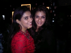 Asin poses with Raveena Tandon on her birthday party