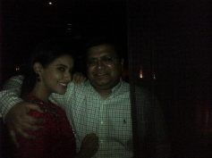 Asin poses with Tanuj Garg on her birthday party