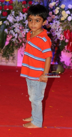 Kajol son Yug Devgan at Juhu Durga pooja event 2013