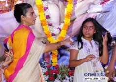 Kajol along with her daughter Nysa Devgan at Juhu Durga pooja event 2013