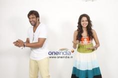 Chiranjeevi Sarja and Shanvi Srivastava in Kannada Film Chandralekha